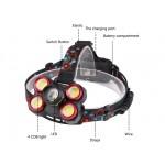 Челник за глава с акумулаторни батерии и 5 LED Диода със Зум!